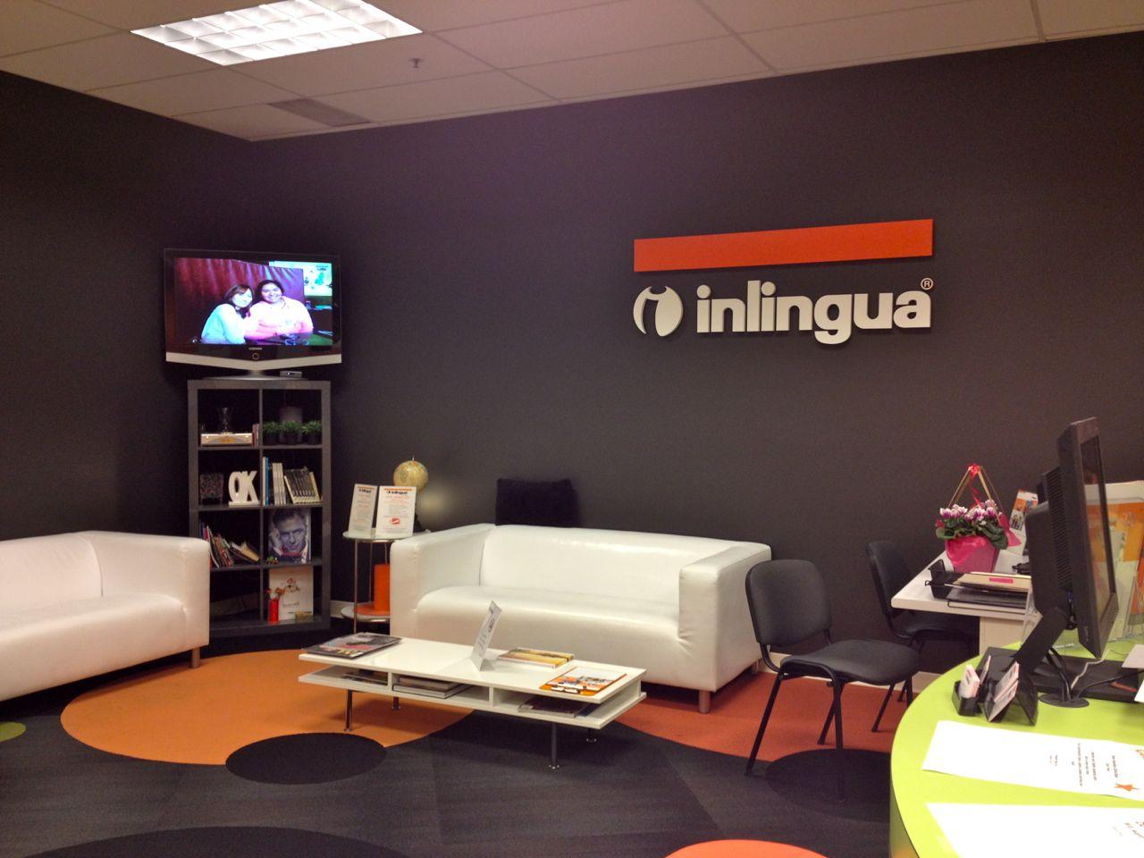 カナダ ビクトリアの語学学校Inlinguaロビー
