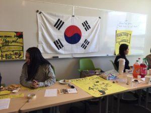 韓国のテーブル